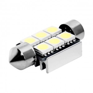 Rurka 36 mm 6 LED SMD canbus C5W C10W CAN BUS FV
